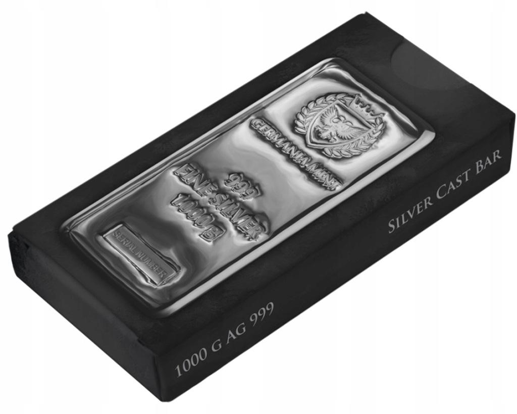 Sztabka Germania Mint Silver Cast Bar 1000 G