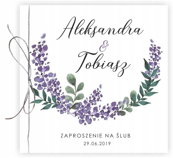 ślubne ZAPROSZENIA NA ŚLUB Boho Kwiaty WZORY !