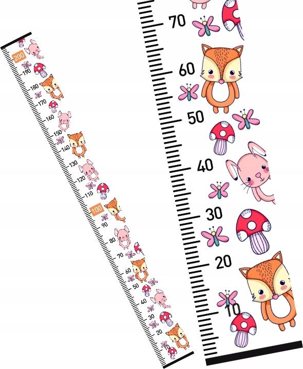 MIARKA WZROSTU dla dzieci LEŚNE ZWIERZĄTKA 160 cm