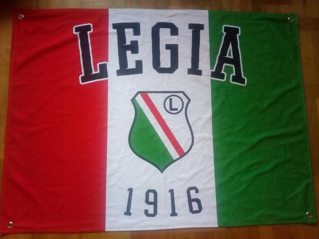 Flaga LEGIA WARSZAWA 96x70 używana