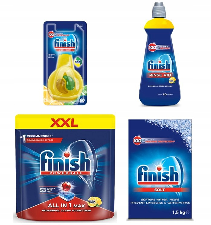 Finish Zestaw All in 1 Max 53 Tab Płyn Sól Zapach