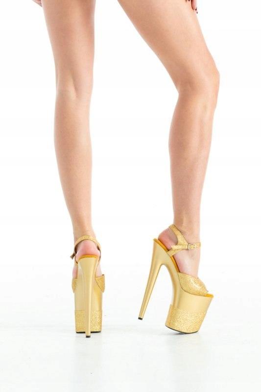 Buty- platformy złote błyszczące 37