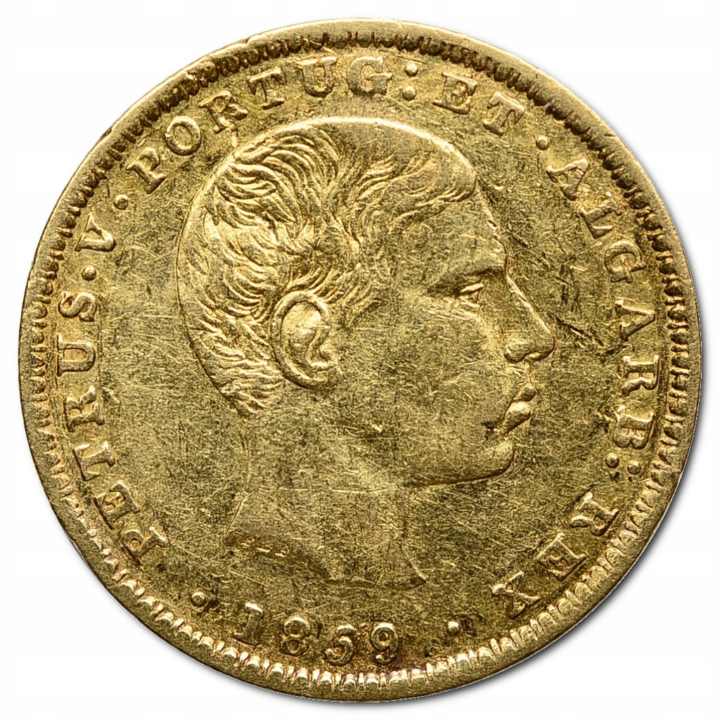 30.PORTUGALIA, PIOTR V, 2 000 REIS 1859