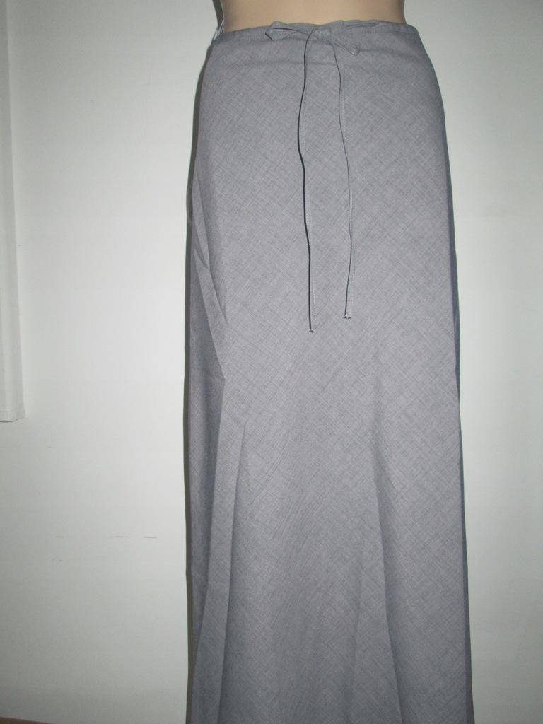L161022 szara spódnica w kratkę maxi S 36 3 zl