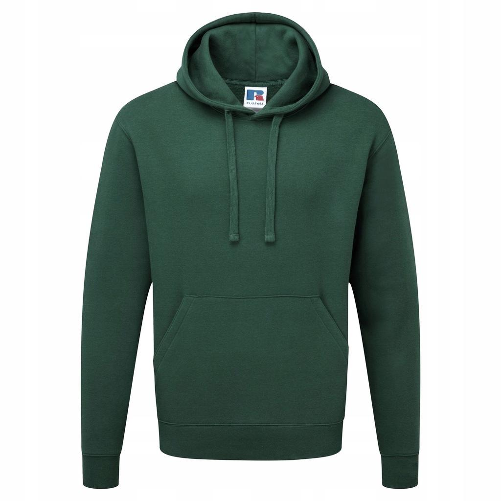 Russell - męska bluza 2XL Butelkowy zielony