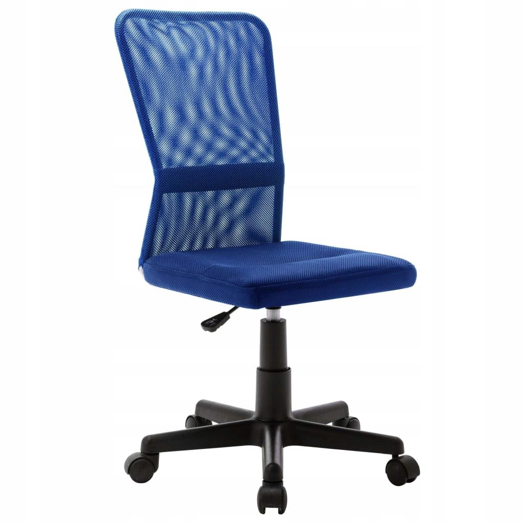 Krzesło biurowe, niebieskie, 44x52x100 cm, z siatk