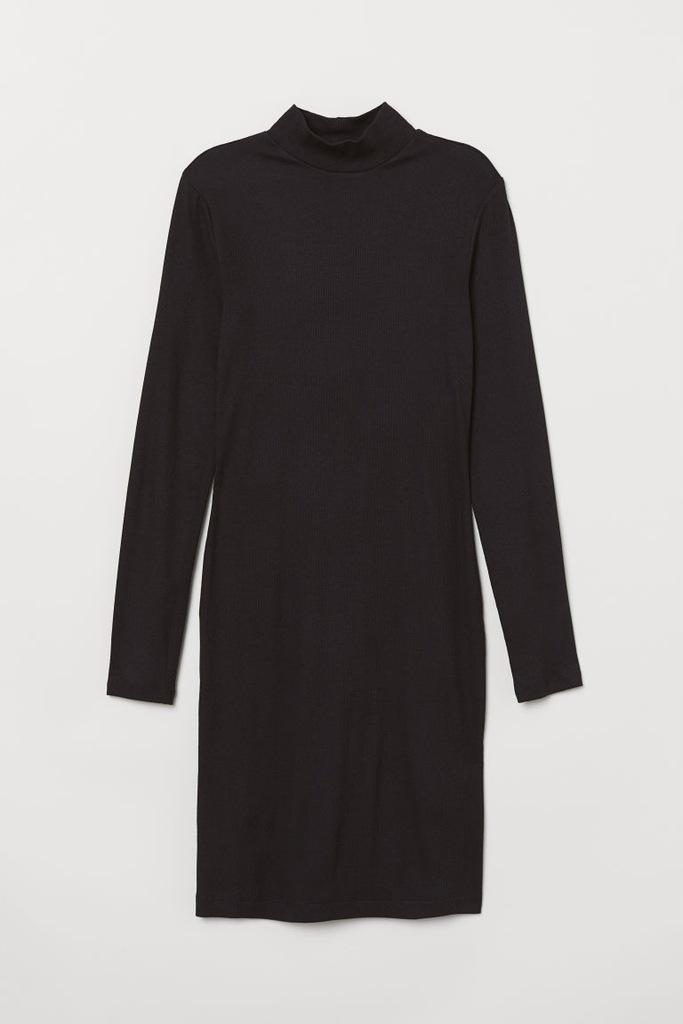 Sukienka z półgolfem 32 XXS H&M ciągliwa