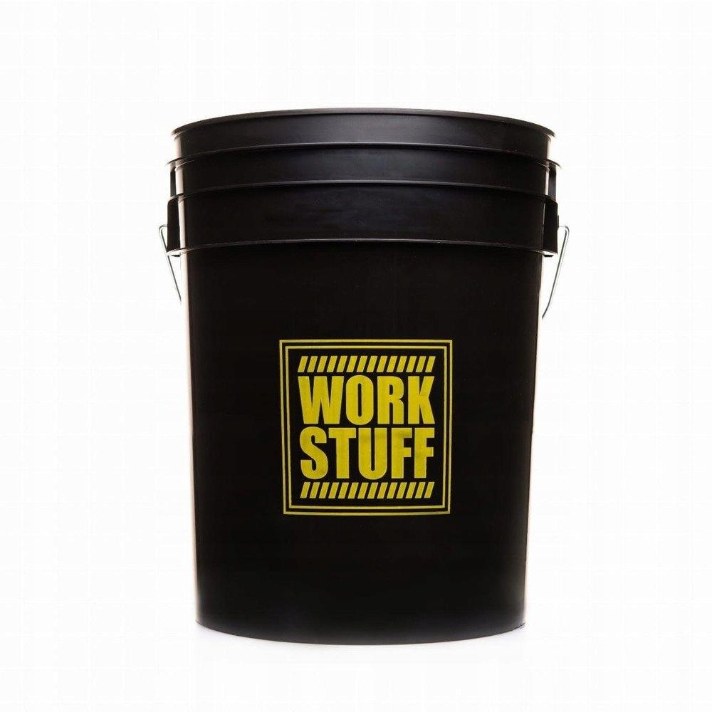 Czarne wiadro do mycia auta Work Stuff 20L
