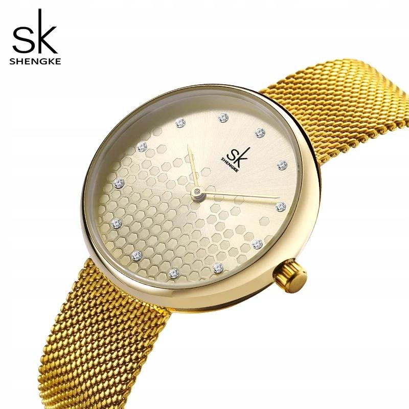 Zegarek damski złoty bransoletka pudełko prezent