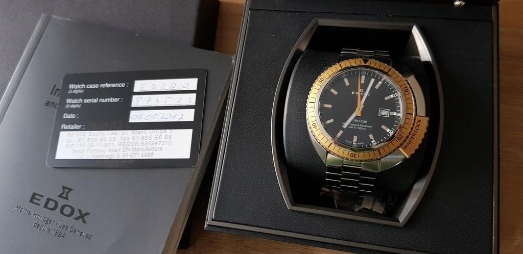 Edox 53200.3Om. Nin Hydro-Sub Sapphire Swiss Made