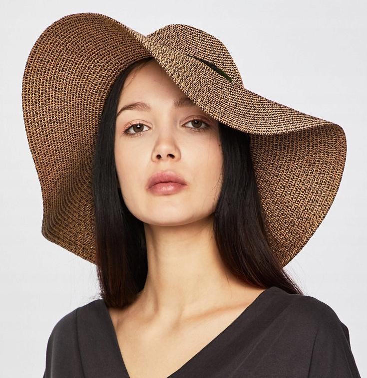 ATMOSPHERE kapelusz plażowy letni pleciony szeroki