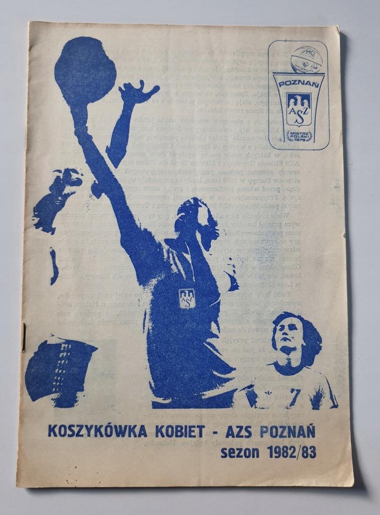 PROGRAM AZS POZNAŃ KOSZYKÓWKA KOBIET SEZON 1982/83