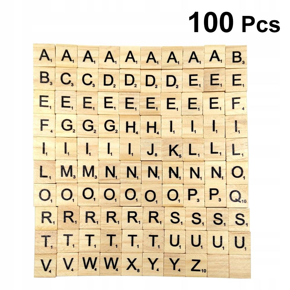 100 sztuk 26 angielskich litrów Puzzle Drewniane d