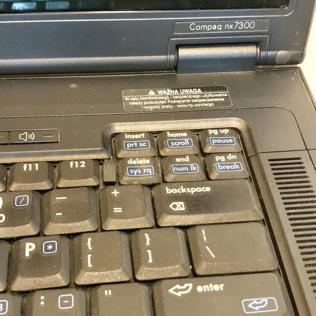 Hp Compaq Nx7300 Laptop 1 66ghz 1 128gb Windows 7 8660866148 Oficjalne Archiwum Allegro