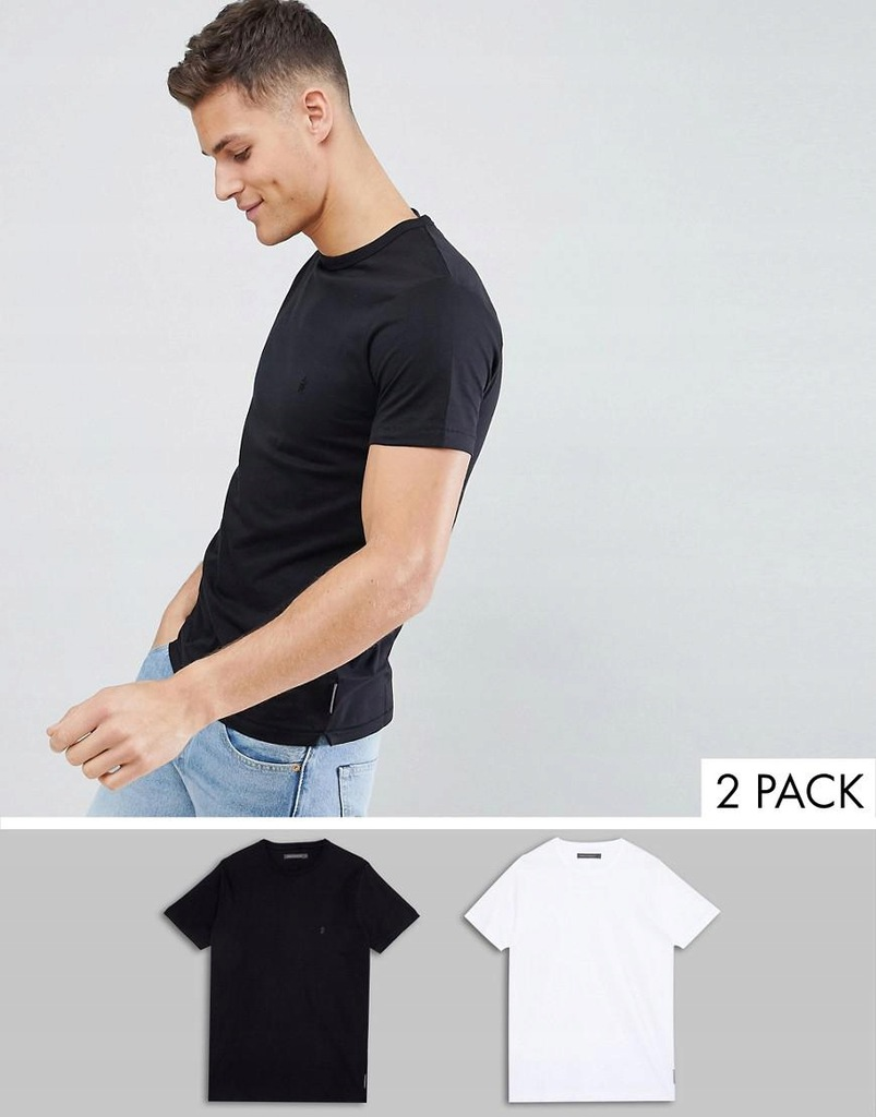 07C106 FRENCH CONNECTION__NU5 T-SHIRT 2-PACK__M/L