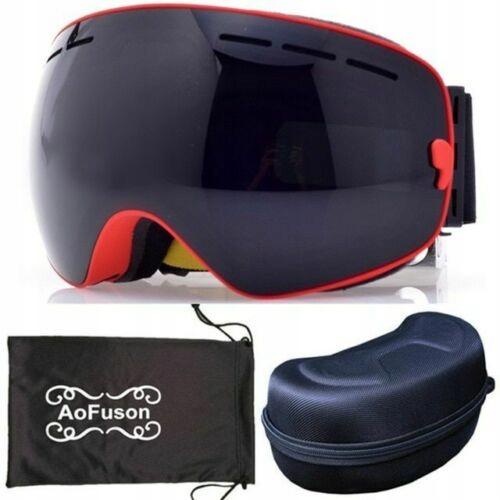 Gogle narciarskie dwuwarstwowe UV400