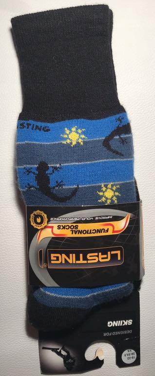 Skarpetki narciarskie LASTING 34-37 niebieskie