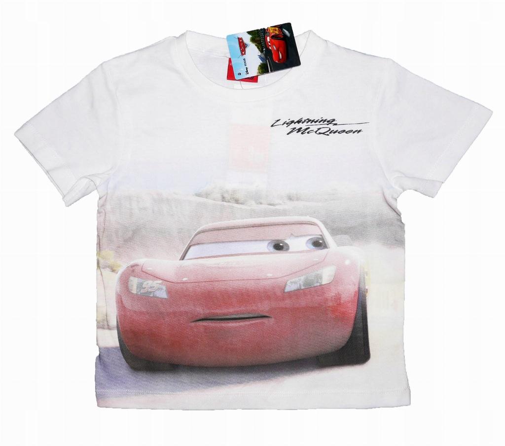 CARS Auta Koszulka T-shirt biała 104 LICENCJA