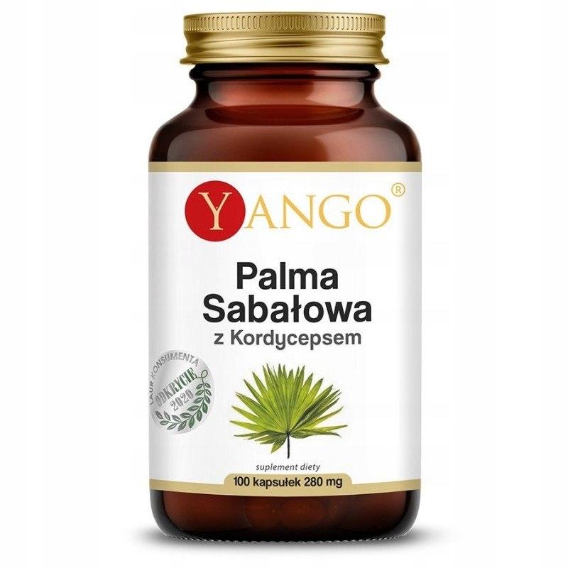 Palma sabałowa z kordycepsem, ekstrakt, 100 kapsuł