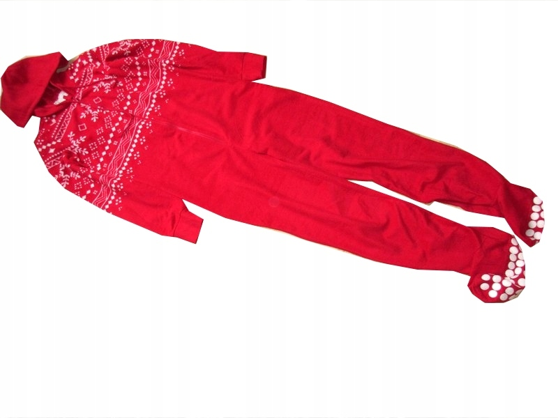 N E W L O O K kombinezon piżamka czerwona S