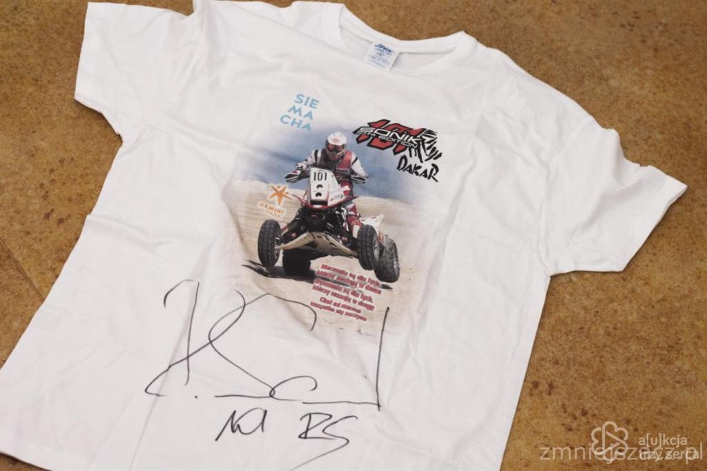 Koszulka z autografem Rafała Sonika + smycz