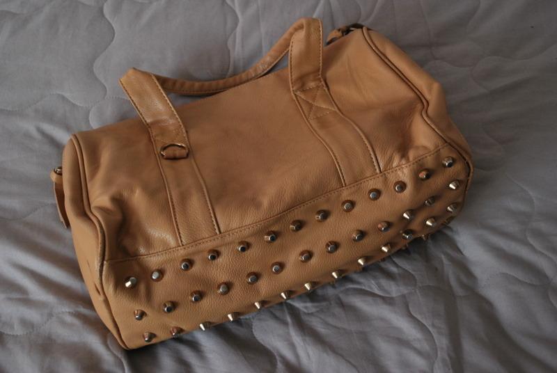Torba beżowa ćwieki H&M kolce torebka