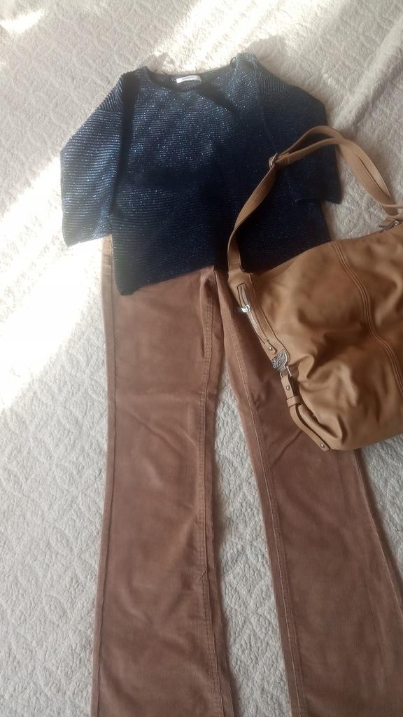 Sweterek Reserved+spodnie plus torebka gratis
