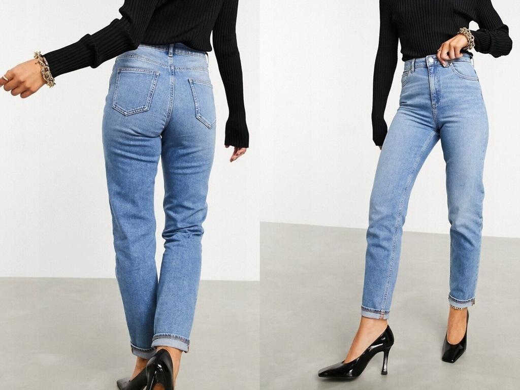 DESIGN Dopasowane mom jeans wysoki stan 32/30