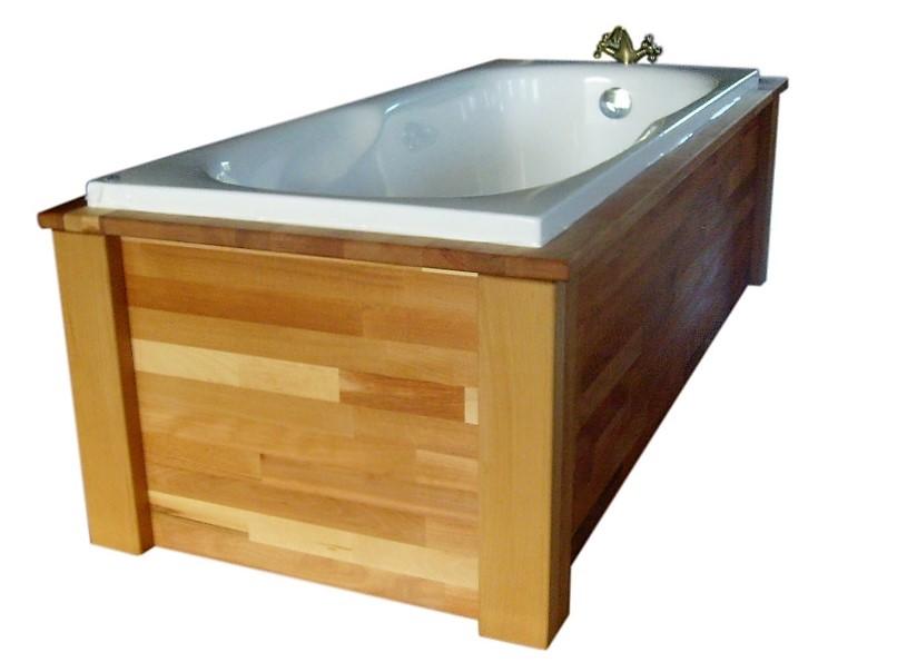 OBUDOWA zabudowa drewniana WANNY wolnostojącej