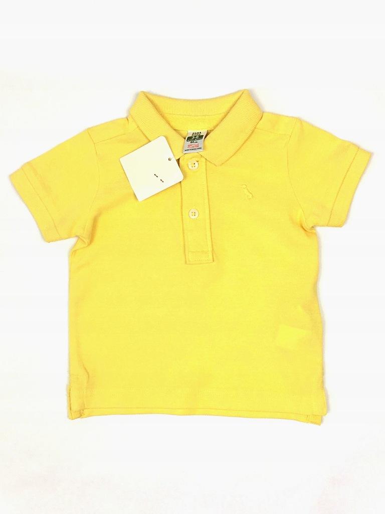 Koszulka polo, Zara, Żółty, 68