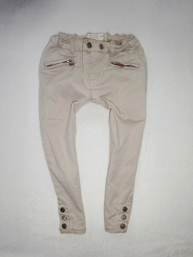 spodnie chłopięce zara ecru