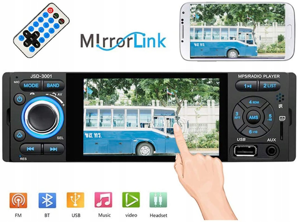 Radio samochodowe Din 4.1 odtwarzacz multimedialny