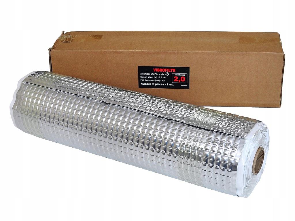 Vibrofiltr Silver 2mm mata tłumiąca rolka 50x600cm