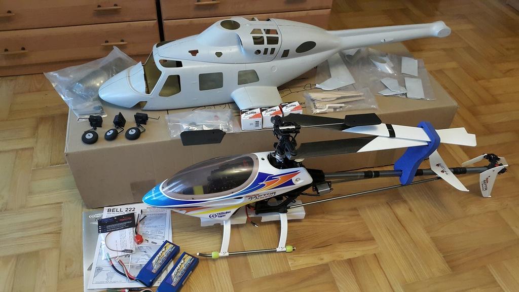 Zestaw do budowy makiety śmigłowca Bell 222