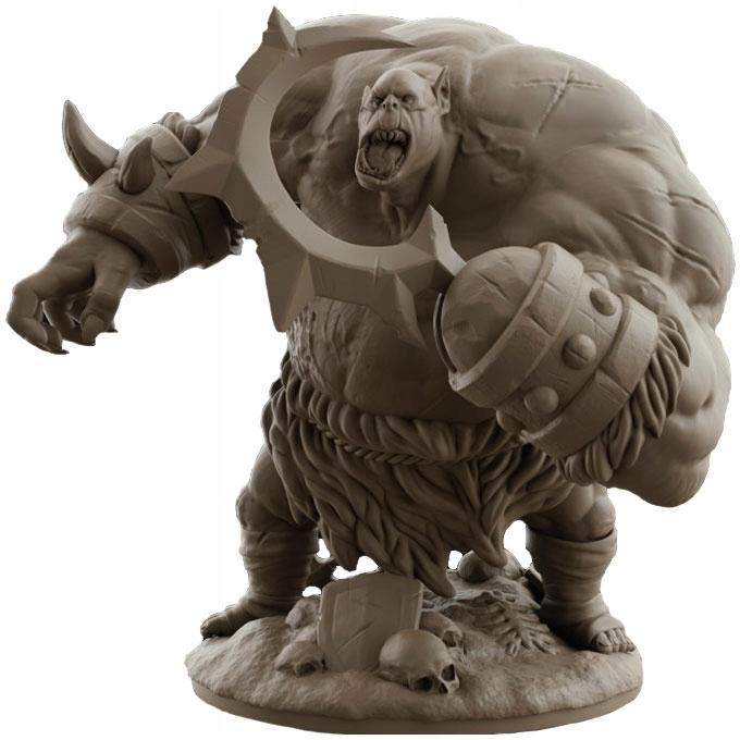Ogr Berserker - Figurka RPG, eco żywica, podkład