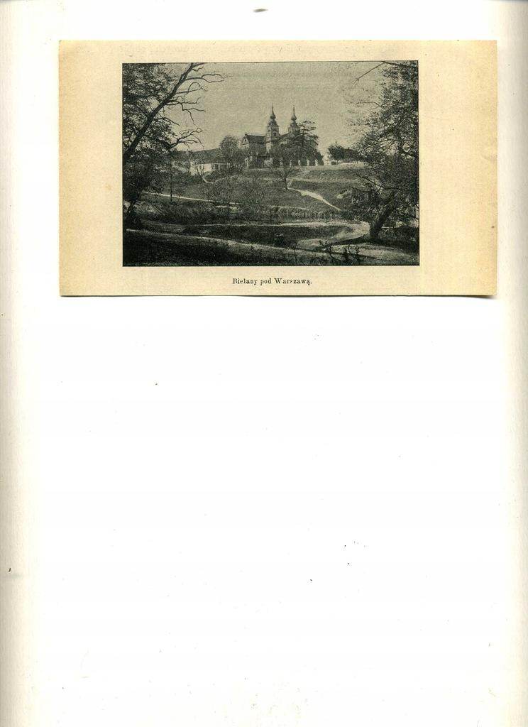 ILUSTRACJA PRASOWA z 1903 r- BIELANY pod WARSZAWĄ