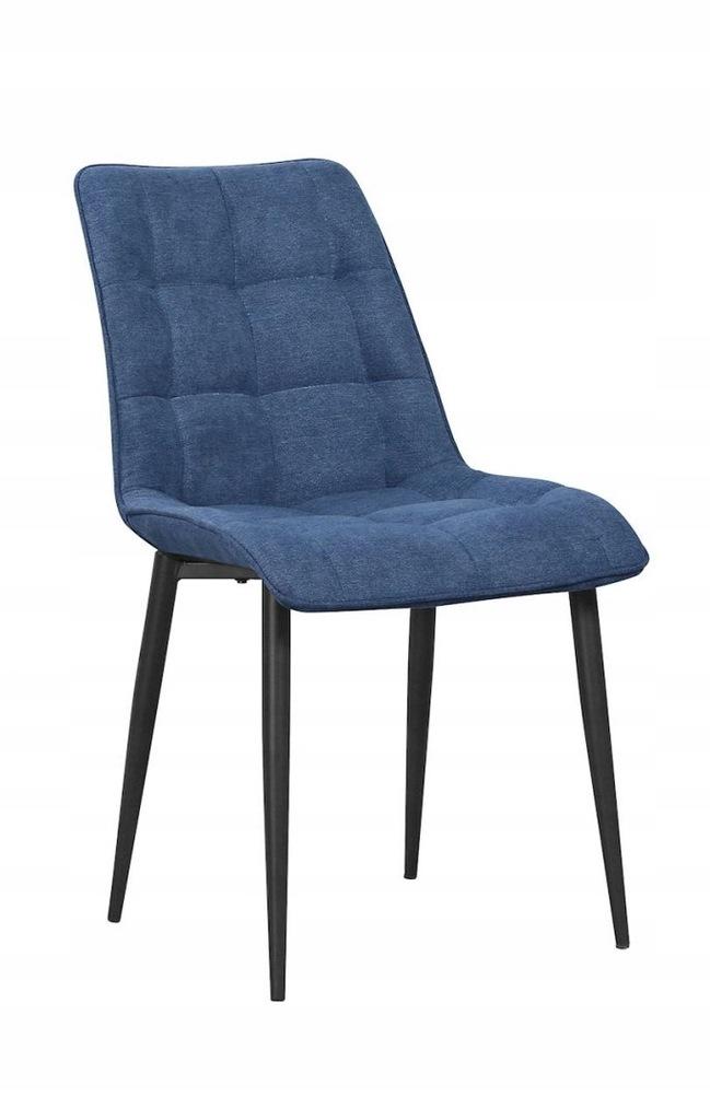 Krzesło MARCO niebieski/ noga czarna