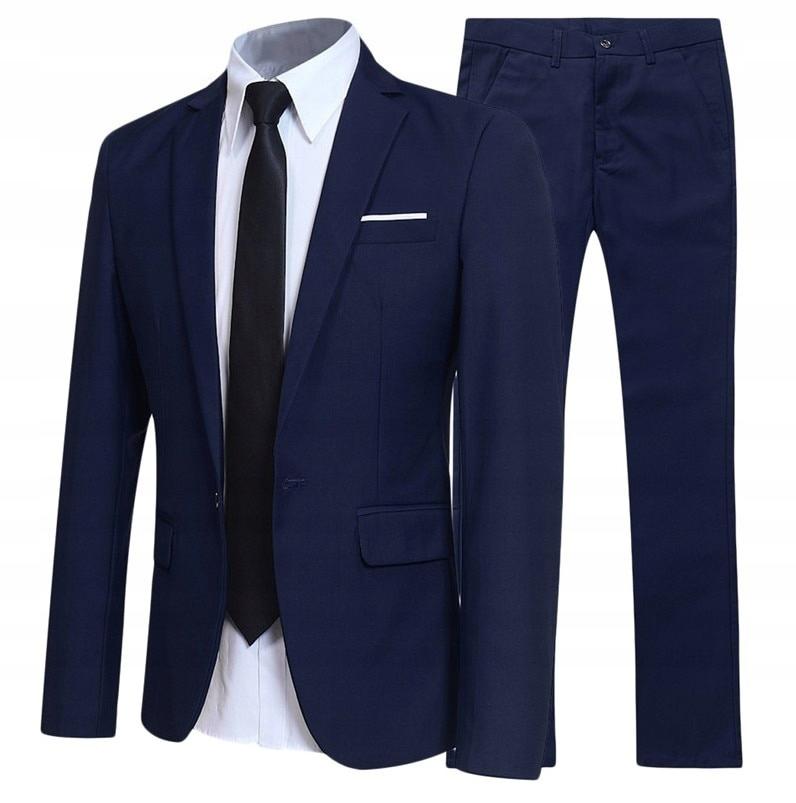 Garnitur męski Dwuczęściowy garnitur Business Slim