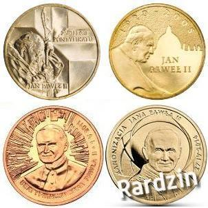 Komplet 4 monet Jan Paweł II 2 zł NG + kapsle !
