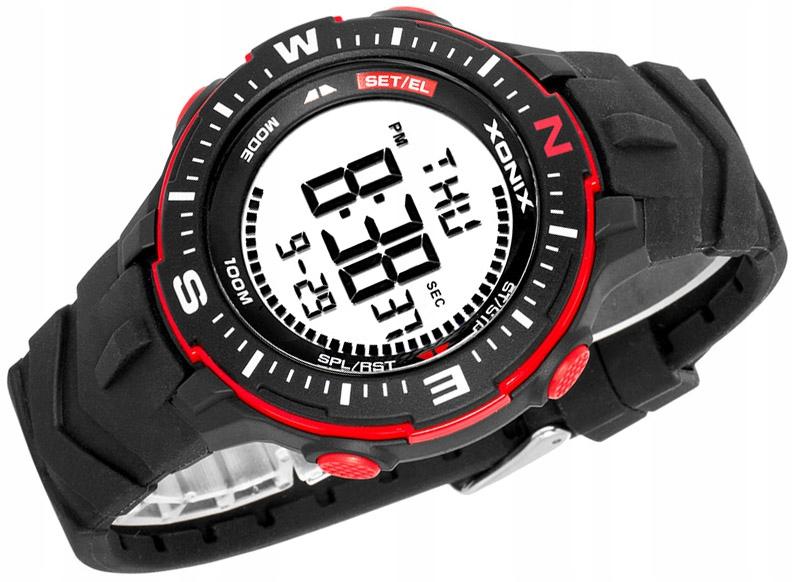 Duży Męski Zegarek Elektroniczny Zegarek XONIX