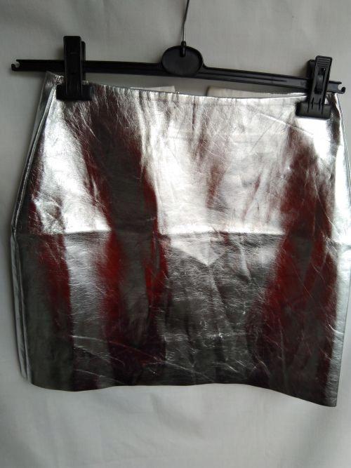 x. Metaliczna spódnica H&M S