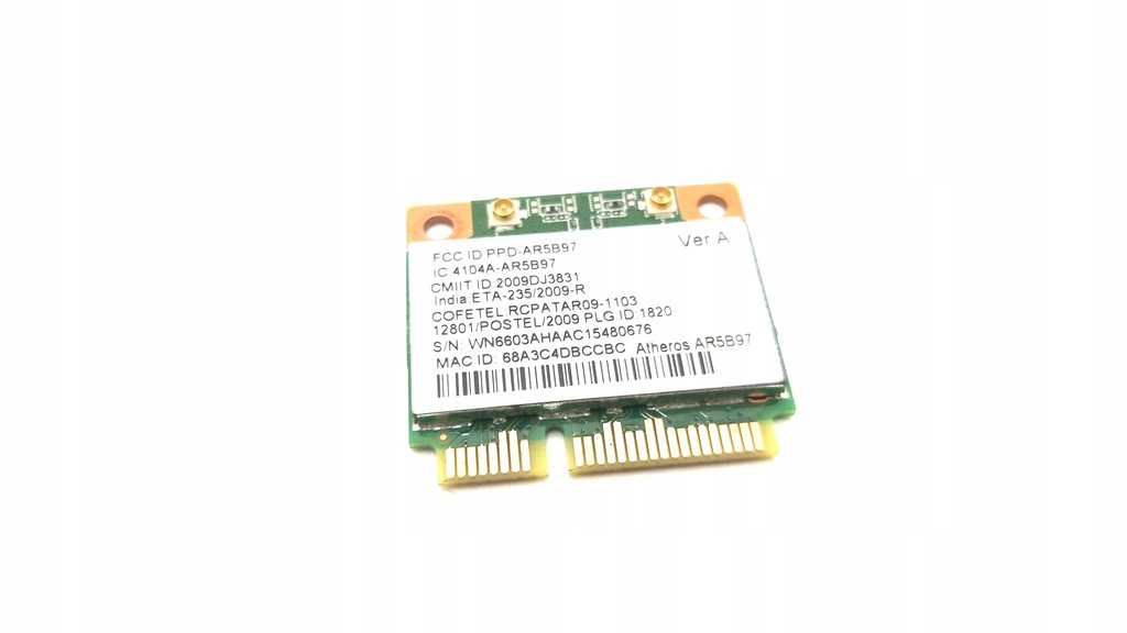 KARTA WIFI AR5B97 Packard Bell P7YS0 LS11HR