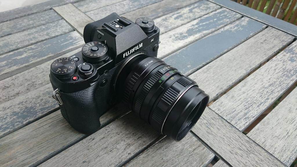 Świetny FujiFilm X-T1 + Helios 44M-4 58/2 2 akumu