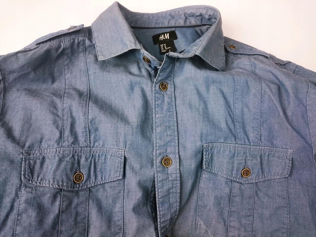 Koszula H&M jeansowa rozmiar M tanio!