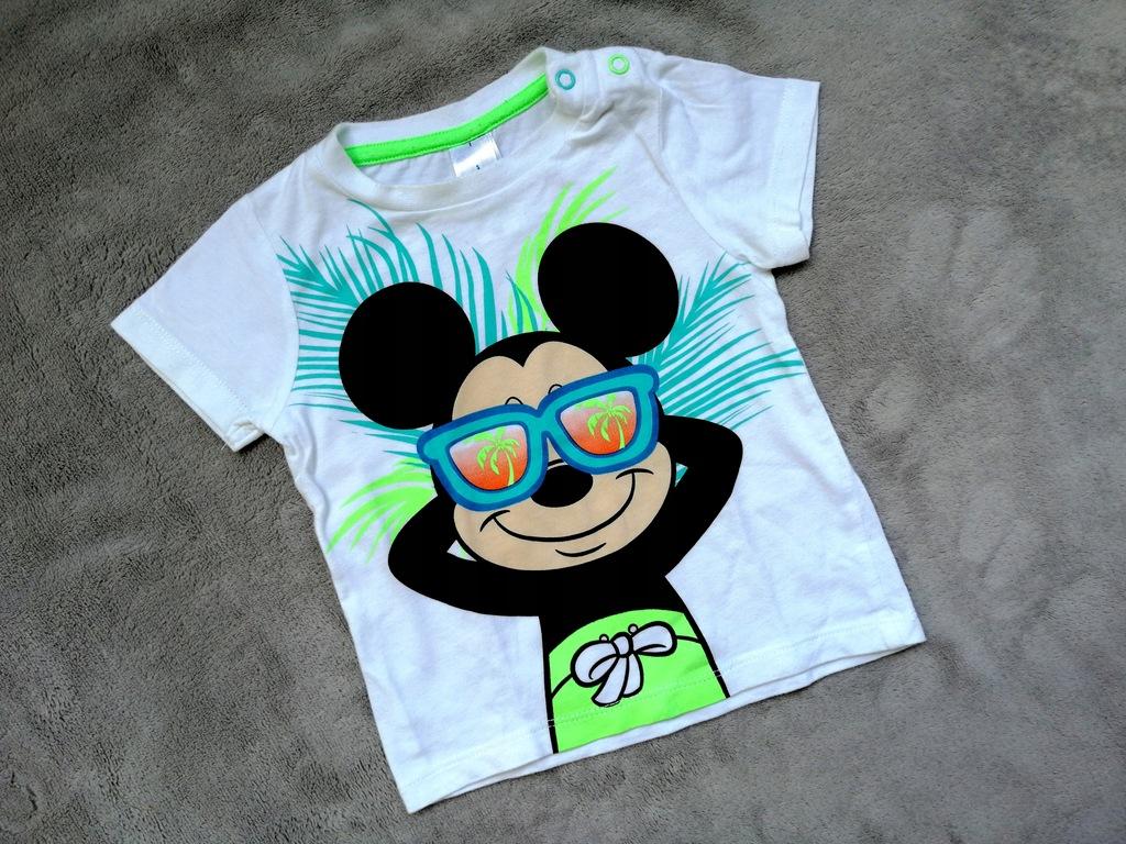 Biały T-shirt Myszka Miki Disnep baby 80