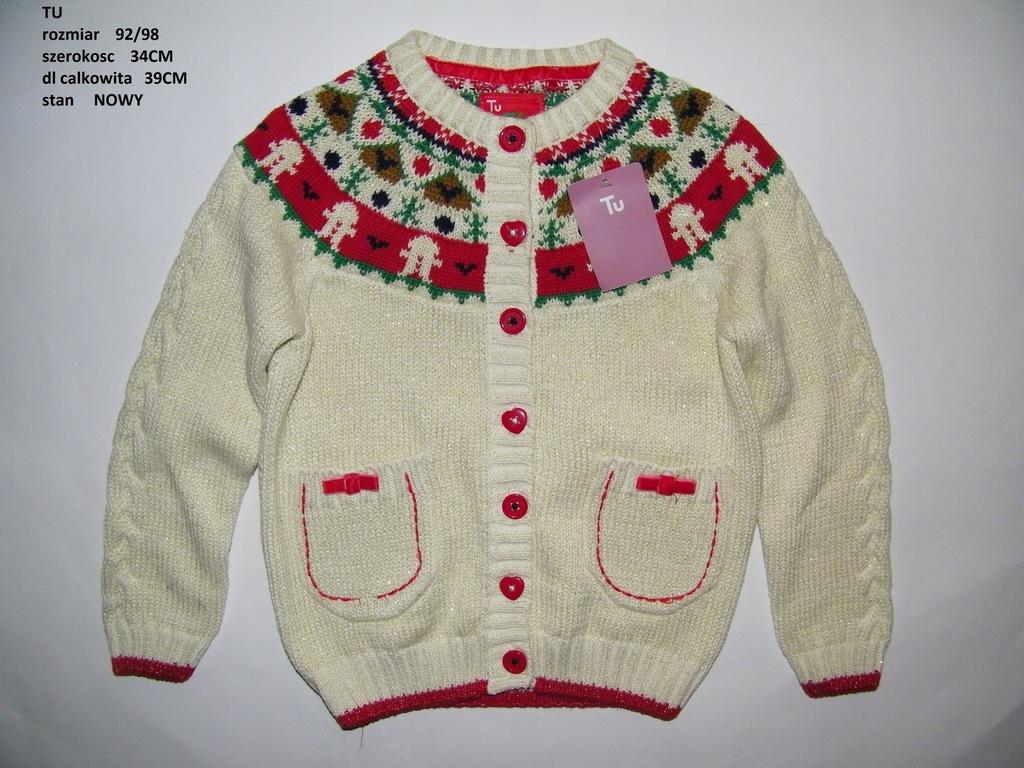 nowy sweterek święta TU 92/98