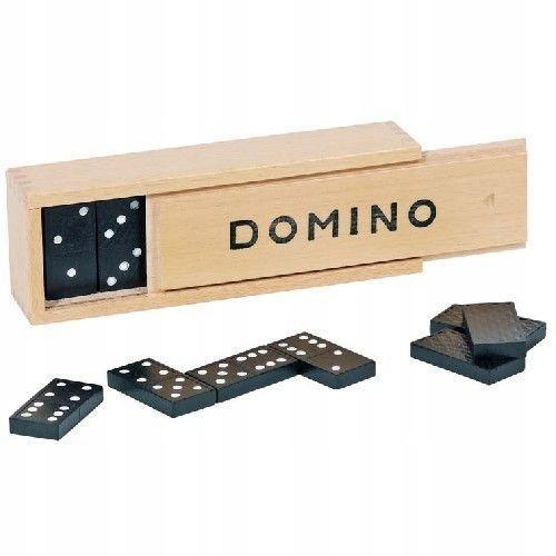 Domino dla dzieci w drewnianym pudełku
