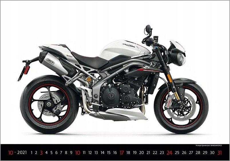 Motocykle bikes motory kalendarz 2021 ścigacze