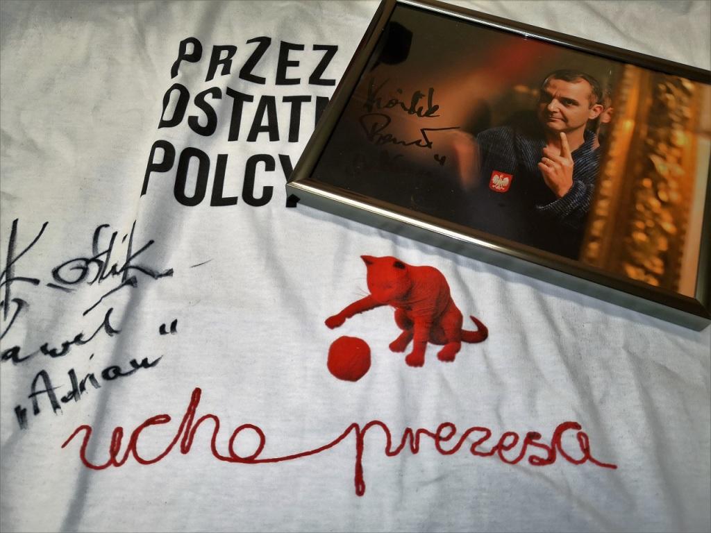 """Koszulka """"Ucho Prezesa"""" oraz zdjęcie """"Adriana"""""""