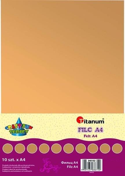 Filc dekoracyjny, 10ark format A4 ciel, CRAFT-FUN